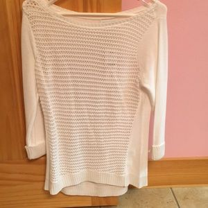 New York and Co quarter length white sweater